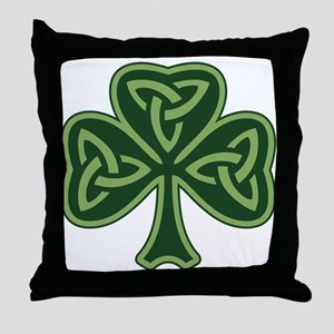 Trinity Shamrock Throw Pillow